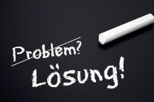 Tafel mit Problem und Lösung