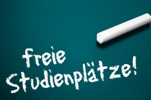 Tafel mit freie Studienplätze